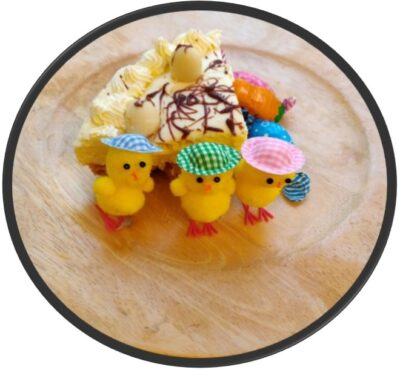 Easter Cheesecake Slice